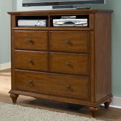 Kangley 5 Drawer Media Chest Color: Light Cherry