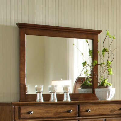 Kangley Rectangular Dresser Mirror Finish: Golden Oak