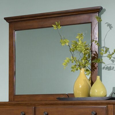Kangley Rectangular Dresser Mirror Finish: Light Cherry