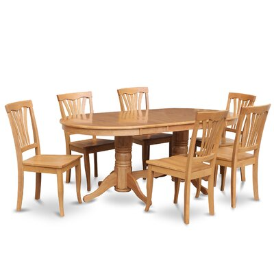 Rockdale 7 Piece Dining Set II Chair Upholstery: Non-Upholstered Wood