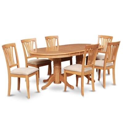Rockdale 7 Piece Dining Set II Chair Upholstery: Upholstered