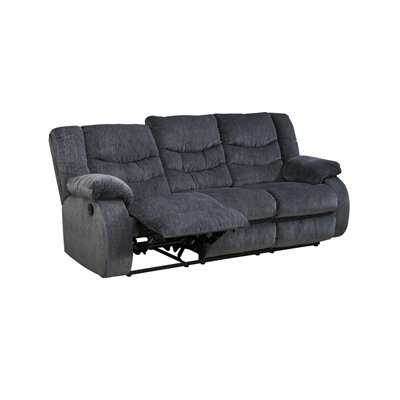 Blackledge Reclining Sofa Upholstery: Grey, Type: Manual