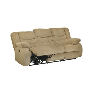 Blackledge Reclining Sofa Type: Manual, Upholstery: Beige