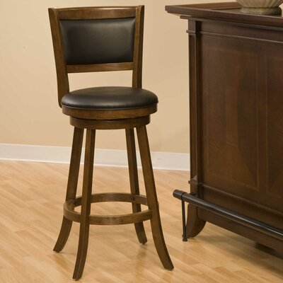 Marland 29 Swivel Bar Stool Frame Finish: Cherry
