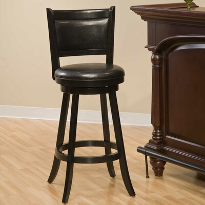 Marland 29 Swivel Bar Stool Frame Finish: Black