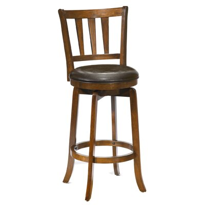 Malcolm 29.5 Swivel Bar Stool Frame Finish: Cherry