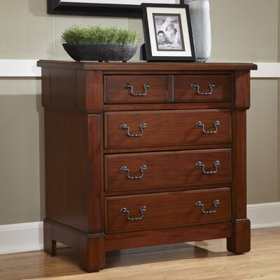 Cargile 4 Drawer Chest Color: Rustic Cherry