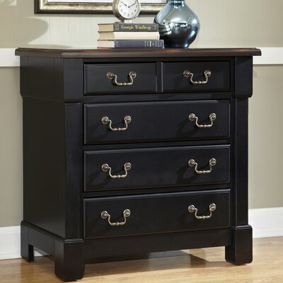Cargile 4 Drawer Chest Color: Rustic Cherry / Black