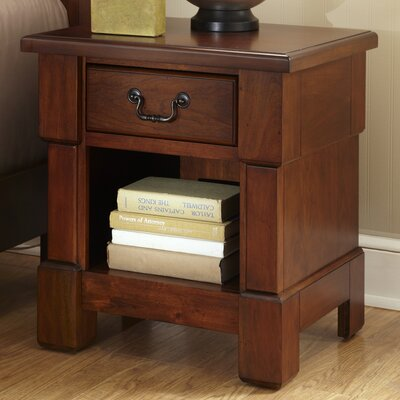 Cargile 1 Drawer Nightstand Finish: Rustic Cherry