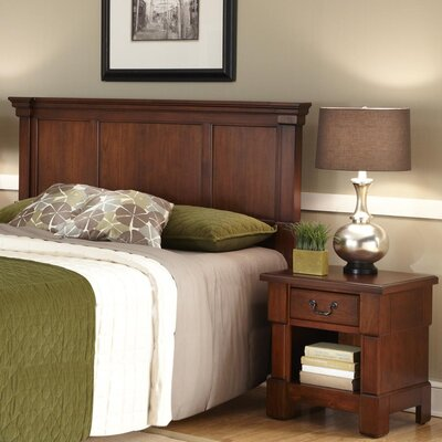 Cargile Panel 2 Piece Bedroom Set Size: Full / Queen, Finish: Rustic Cherry / Black