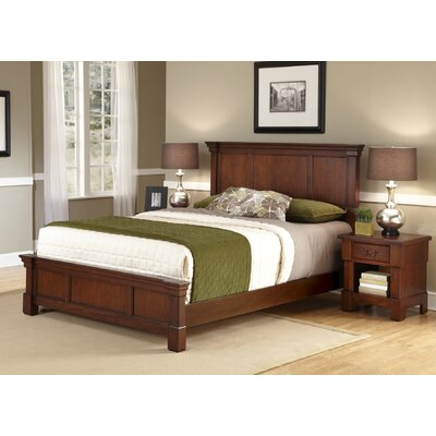 Cargile Panel 2 Piece Bedroom Set Size: Queen, Finish: Rustic Cherry / Black