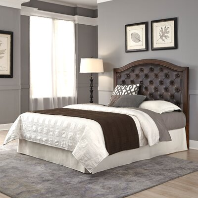 Myra Upholstered Panel Headboard Size: Queen / Full, Upholstery: Brown