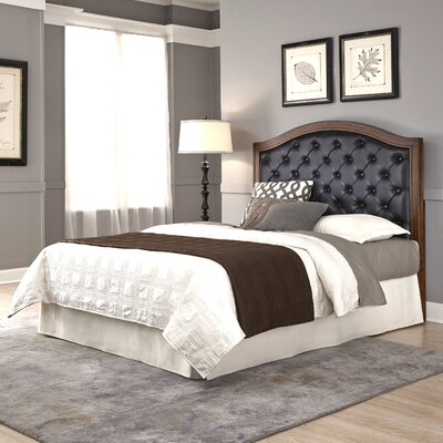 Myra Queen Upholstered Panel Headboard Size: Queen / Full, Upholstery: Black
