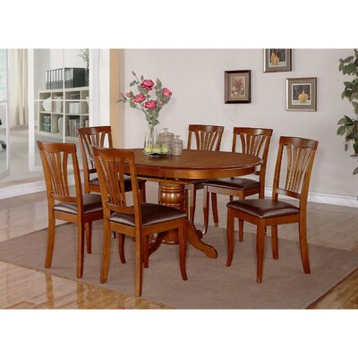 Attamore 5 Piece Dining Set Finish: Saddle Brown, Upholstery: Faux Leather