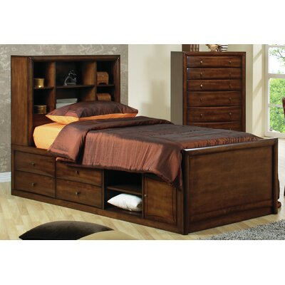 Gages Panel Bed with Storage Size: Twin