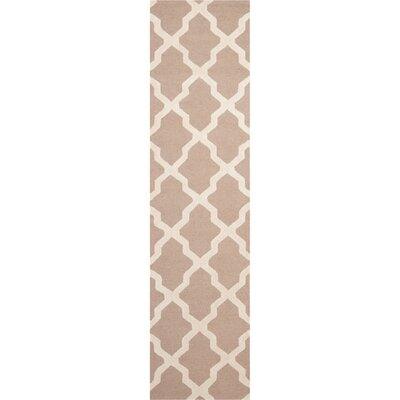Kirschbaum Hand-Woven BeigeIvory Area Rug Rug Size: Runner 26 x 8