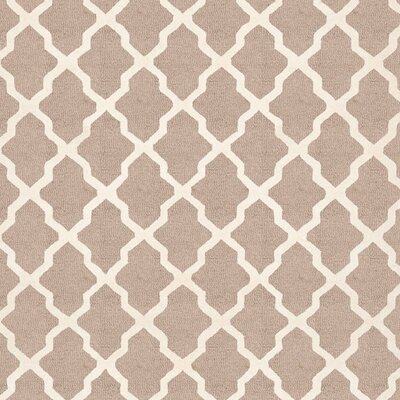 Kirschbaum Hand-Woven BeigeIvory Area Rug Rug Size: Square 10, Finish: Beige
