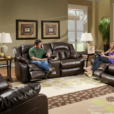 DBHC6061 27548725 DBHC6061 Darby Home Co Houle Leather Double Motion Loveseat