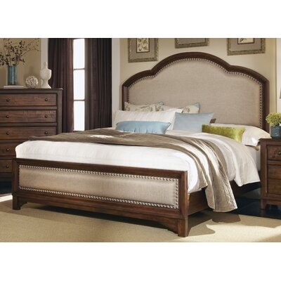 Momea Upholstered Wood Frame Panel Bed Size: Queen
