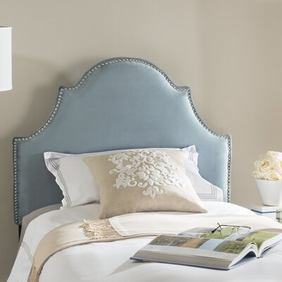 Cardella Upholstered Panel Headboard Finish: Wedgwood Blue, Size: Twin