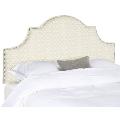 Cardella Upholstered Panel Headboard Finish: Silver & Cream, Size: King