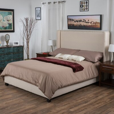 Hagins Upholstered Panel Bed Size: King