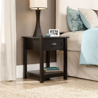 Coombs 1 Drawer Nightstand Finish: Estate Black