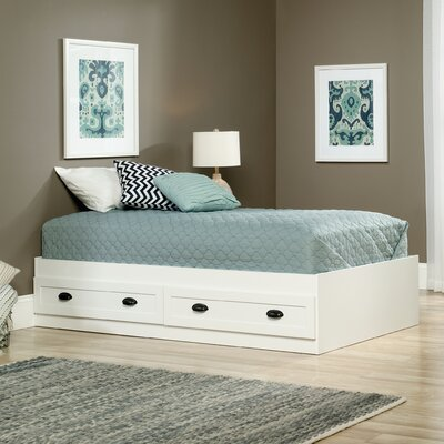 Rossford Twin Platform Bed with Storage Color: Soft White