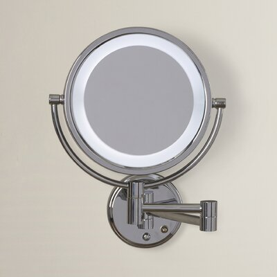 Whitehill Dual Sided Wall Mount Lighted Mirror Finish: Chrome