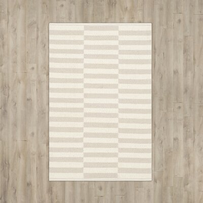 Boody Ivory/Light Gray Area Rug Rug Size: 8 x 10