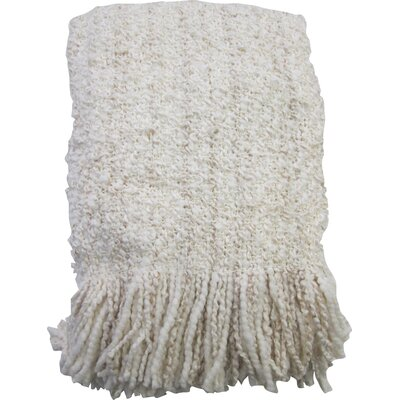 Godbold Decorative Woven Throw Color: Eggshell