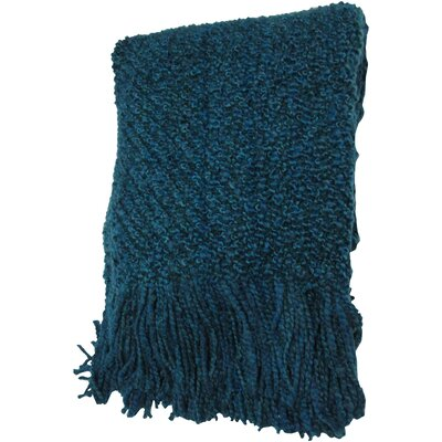 Godbold Decorative Woven Throw Color: Peacock