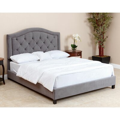 Stolle Queen Upholstered Platform Bed Upholstery: Grey