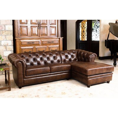 Lapointe Leather Chaise Sectional