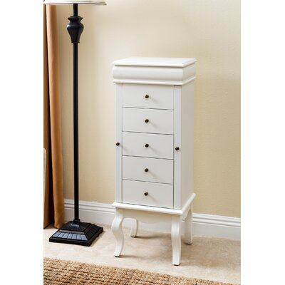 Taube Jewelry Armoire Finish: White