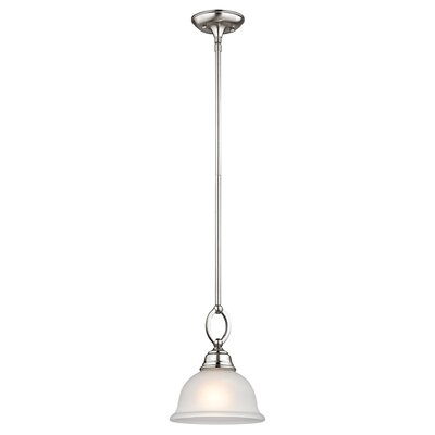 Halvorsen 1-Light Bowl Pendant Finish: Brushed Nickel