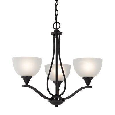 Gallimore 3-Light Shaded Chandelier Finish: Oil Rubbed Bronze