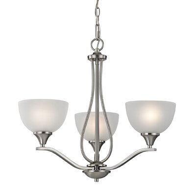 Gallimore 3-Light Shaded Chandelier Finish: Brushed Nickel