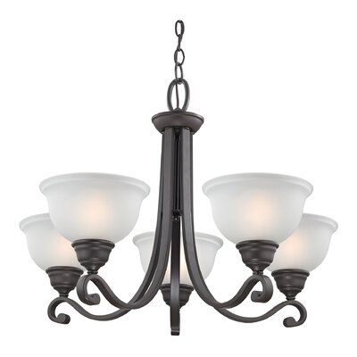 Halvorsen 5-Light Shaded Chandelier Finish: Oil Rubbed Bronze