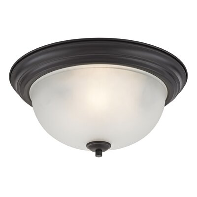Gallimore 3-Light Flush Mount Finish: Oil Rubbed Bronze