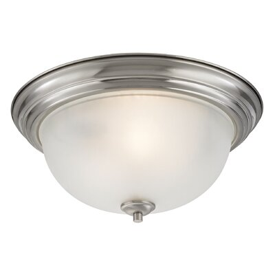Gallimore 3-Light Flush Mount Finish: Brushed Nickel