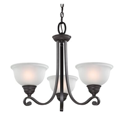 Halvorsen 3-Light Shaded Chandelier Finish: Oil Rubbed Bronze