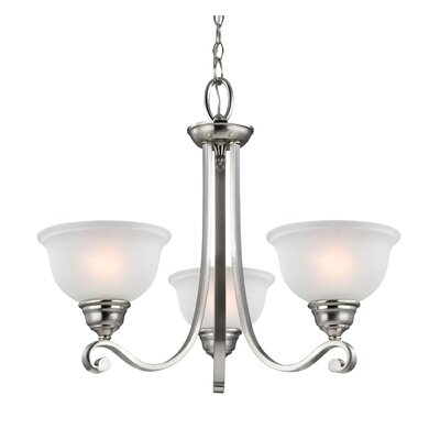 Halvorsen 3-Light Shaded Chandelier Finish: Brushed Nickel