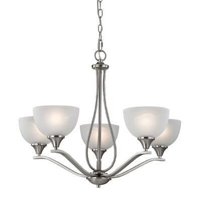 Gallimore 5-Light Shaded Chandelier Finish: Brushed Nickel