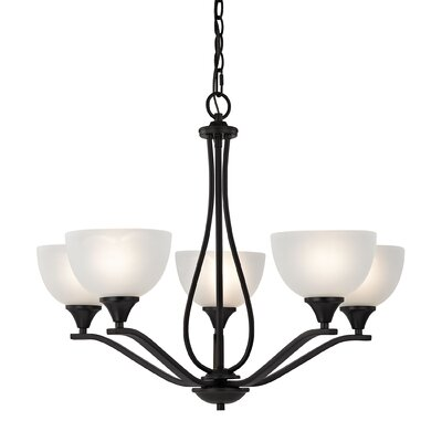 Gallimore 5-Light Shaded Chandelier Finish: Oil Rubbed Bronze