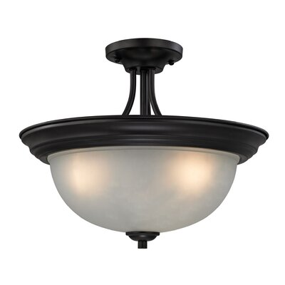 Gallimore 3-Light Semi Flush Mount Finish: Oil Rubbed Bronze