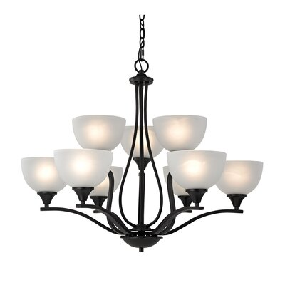 Gallimore 9-Light Shaded Chandelier Finish: Oil Rubbed Bronze