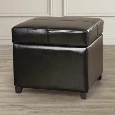 Leitch  Ottoman Upholstery: Black