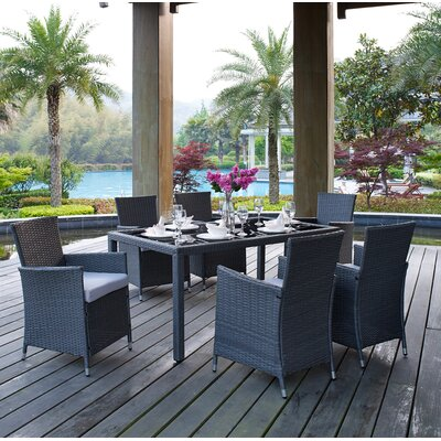 Bickerstaff 7 Piece Dining Set with Cushions