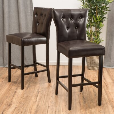 Gilland 30 Bar Stool Fabric: Faux Leather